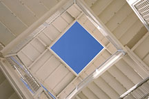 Looking upward through an outdoor staircase at UC Irvine. Irvine, California. - Photo #14