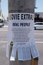 Movie extras wanted. Sunset Boulevard, Los Angeles, California, USA. - Photo #6414