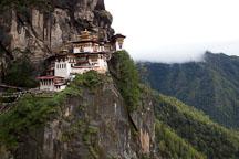Taktshang Goemba is the most famous monastery in Bhutan. Paro Valley, Bhutan. - Photo #24214