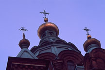 Three crosses on the top of Uspensky Cathedral. Helsinki, Finland. - Photo #414