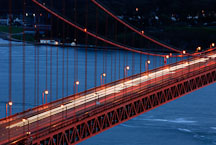 Traffic over the Golden Gate Bridge. San Francisco, California, USA. - Photo #11714