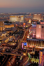 Aerial view of Las Vegas Boulevard. Las Vegas, Nevada, USA. - Photo #13667