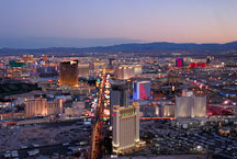 Aerial view of Las Vegas Boulevard. Las Vegas, Nevada, USA. - Photo #13602