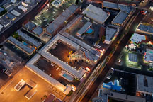 Night aerial view of buildings in Las Vegas. Nevada, USA. - Photo #13605