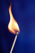 Burning match. - Photo #13844