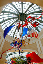 Flags and kites. The Bellagio, Las Vegas, Nevada, USA. - Photo #13533