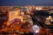 Aerial view of Las Vegas Boulevard. Las Vegas, Nevada, USA. - Photo #13679