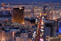 Aerial view of Las Vegas Boulevard. Las Vegas, Nevada, USA. - Photo #13603