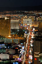 Aerial view of Las Vegas Boulevard. Las Vegas, Nevada, USA. - Photo #13622