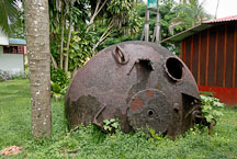 Rusted machinery. Tortuguero Village, Costa Rica. - Photo #13997