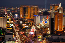The Strip viewed from above. Las Vegas, Nevada, USA. - Photo #13675