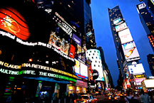 Time Square at night. New York City, New York, USA. - Photo #13055