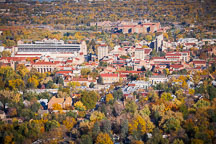 Aerial view of CU Boulder in fall. - Photo #33115