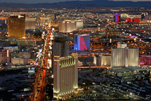 Aerial view of Las Vegas Boulevard. Las Vegas, Nevada, USA. - Photo #13615