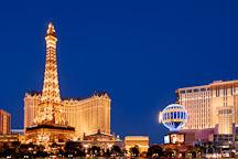 Paris Las Vegas and Eiffel tower replica. Las Vegas, Nevada, USA. - Photo #13315
