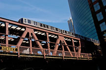 Subway train. Chicago, Illinois, USA. - Photo #10815
