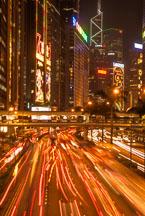 Gloucester Road at night. Hong Kong. - Photo #14663