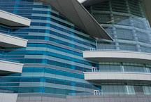 Close-up of the Hong Kong Convention and Exhibition Centre. Hong Kong, China. - Photo #14559