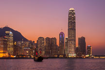 Colorful skyline. Hong Kong, China. - Photo #14612
