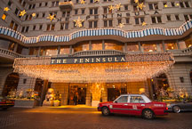 Taxi cab in front of The Peninsula Hotel. Hong Kong. - Photo #14575