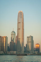 Hong Kong skyline in the morning with Two IFC Tower. Hong Kong, China. - Photo #14687