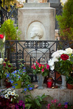 Frederic Chopin's grave. Pere Lachaise cemetery, Paris, France. - Photo #31416