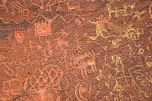 Lichen and petroglyphs. V-bar-V Ranch, Arizona, USA. - Photo #17816