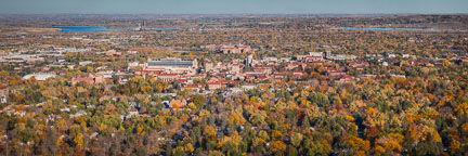 Panorama of CU Boulder. - Photo #33116