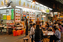 Seafood restaurant. Temple street night market, Hong Kong, China. - Photo #16216