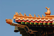 Animal ornaments on the roof of the Wong Tai Sin Temple. - Photo #15734
