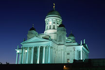 The Cathedral at night. Senate Square, Helsinki, Finland. - Photo #417