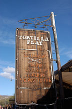 Tortilla Flat sign. Tortilla Flat, Arizona, USA. - Photo #5617