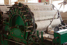 Wool carding machine. Mission Mill, Salem, Oregon. - Photo #28017