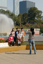 Children posing for picture. Hong Kong Park, Hong Kong, China. - Photo #16446