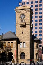 Clock tower at San Jose Museum of Art. San Jose, California. - Photo #16814