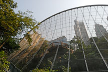 Stainless steel mesh of the Edward Youde Aviary. Hong Kong, China. - Photo #16507