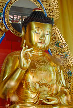 Golden Buddha in Po Lin Monastery. - Photo #16174