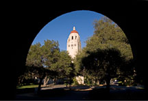 Hoover Tower viewed through an Arch. Stanford University, California. - Photo #16714