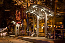 Light rail stop in downtown San Jose. San Jose, California. - Photo #16956