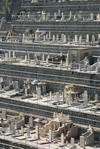 Terraces of the Chinese Permanent Cemetery. Aberdeen, Hong Kong, China. - Photo #16325