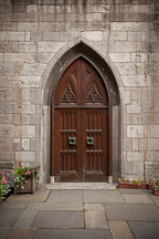 Arched door at Grace Church, New York city. - Photo #25318