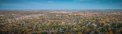 City of Boulder Colorado as seen from Panorama Point. - Photo #33118
