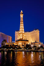 Eiffel tower replica. Las Vegas, Nevada, USA. - Photo #13318