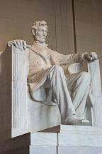 Statue of Abraham Lincoln. Lincoln memorial, Washington, D.C. - Photo #1818
