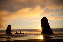 The Needles at Cannon Beach, Oregon. - Photo #28418
