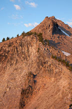 Fire lookout on Watchman Peak. Crater Lake NP, Oregon. - Photo #27418