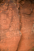 Anthropomorph petroglyphs. V-bar-V Ranch, Arizona, USA. - Photo #17775
