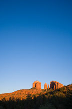 Sunset on Cathedral Rock. Sedona, Arizona. - Photo #17641