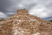Cluster of buildings. Tuzigoot National Monument, Arizona, USA. - Photo #17687