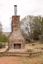Fireplace of the V-Bar-V Ranch. Arizona, USA. - Photo #17817